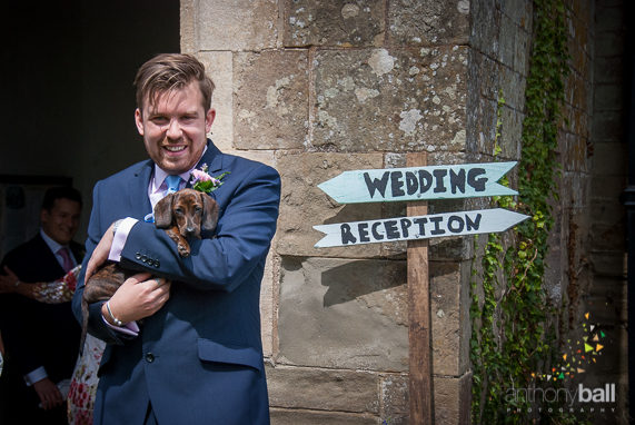 An additional member of the Groom's Party and a welcome distraction from pre-ceremony nerves!