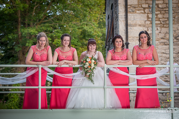 Gloucestershire-Wedding-Photographer-Coral Bridesmaid Dresses