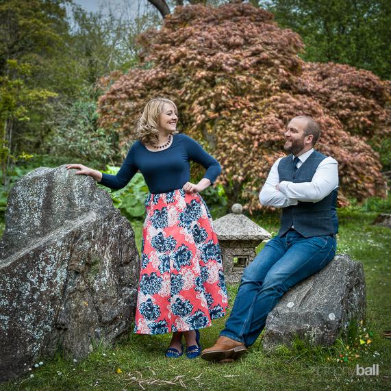 Pre-wedding shoot amongst the welsh bluebells