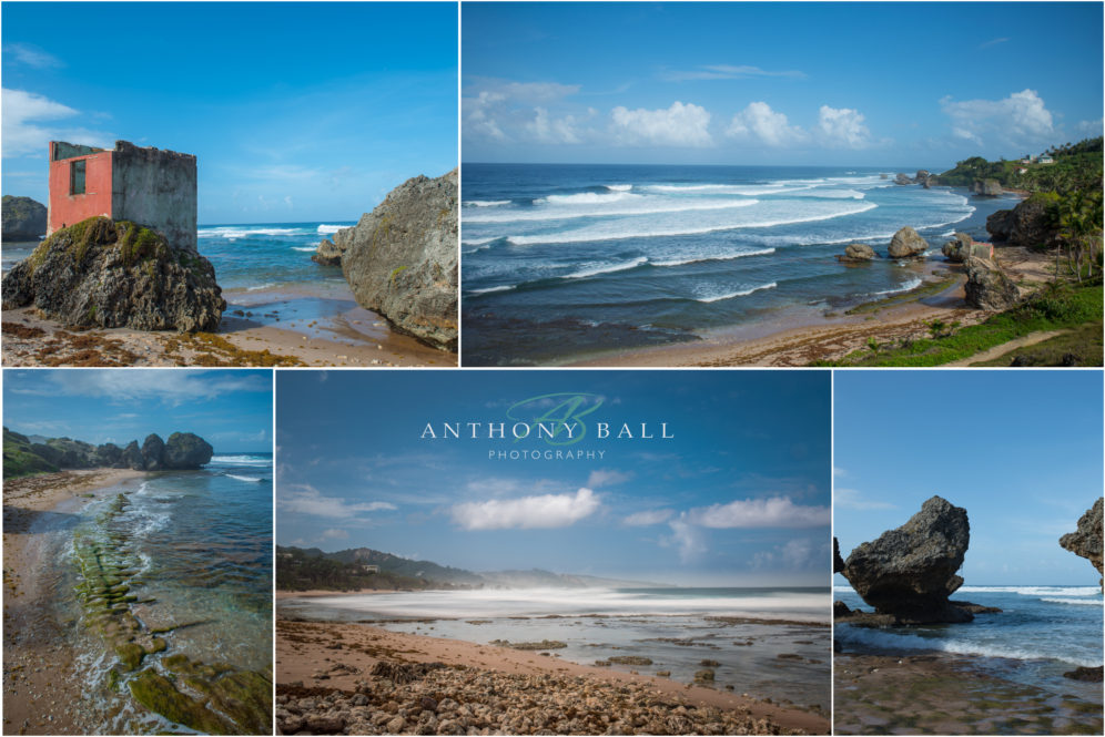 Practice photoshoot at Bathsheba, Barbados