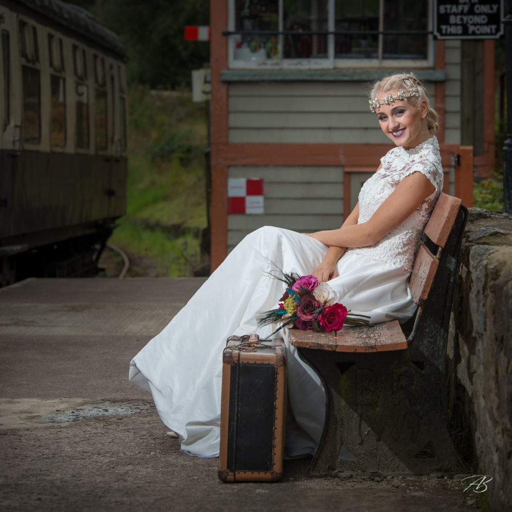 Railway wedding Dress Photoshoot
