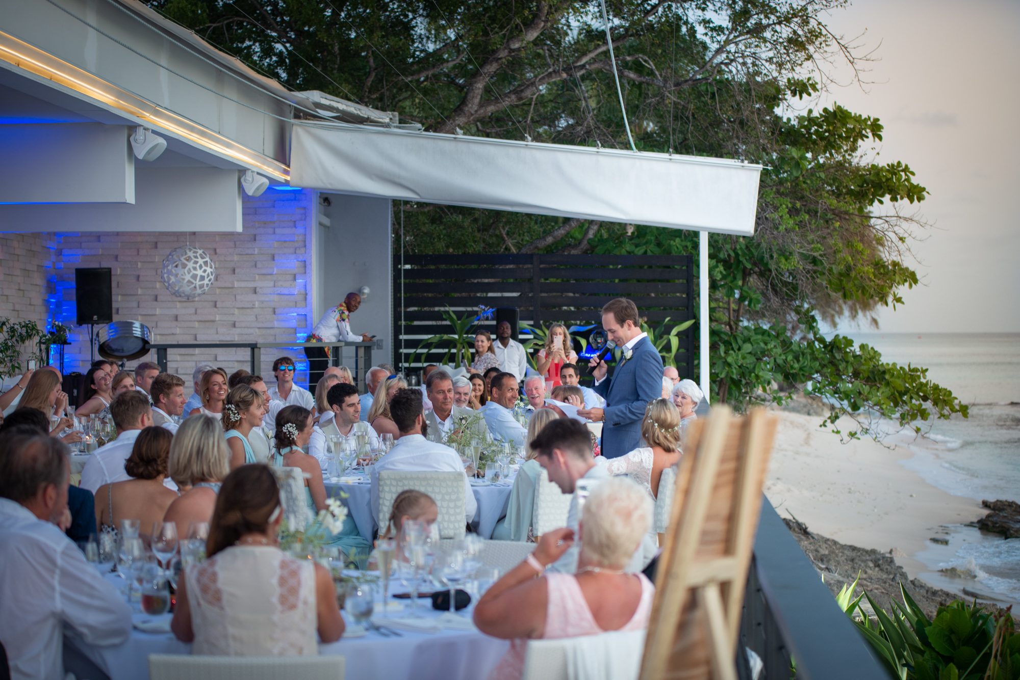Barbados Wedding speeches at Cin Cin by the Sea